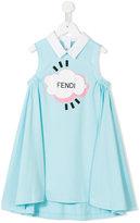 Fendi logo print dress - kids - Cotton - 4 yrs
