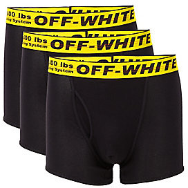 Off-White Men's 3-Pack Stretch Cotton Boxer Shorts