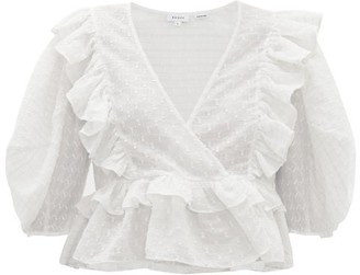 Rhode Resort Elodie Ruffled Cotton-blend Top - Womens - White