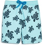 Vilebrequin Boys' Jim Flocked Turtles Swim Trunks - Ages 2-8