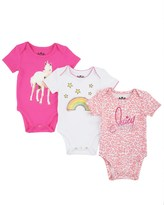 Juicy Couture Baby Knit Graphic 3pc Bodysuit Set