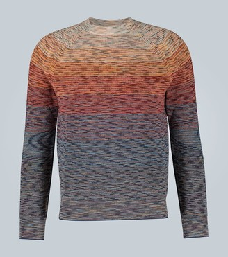 Missoni Striped knitted linen-blend sweater