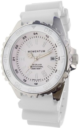 Momentum Stainless Steel Analog-Quartz Watch with Rubber Strap