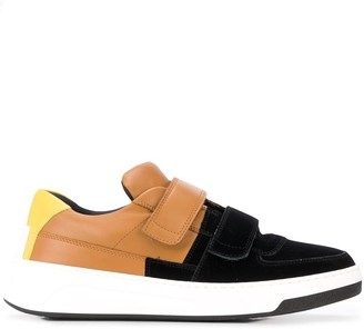 Acne Studios Perey Flocked touch-strap sneakers