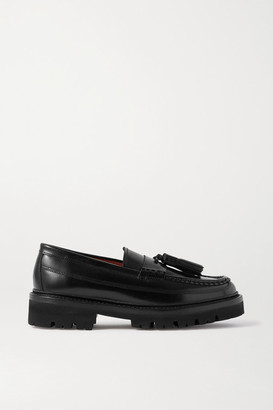 Grenson Bethany Tasseled Leather Loafers - Black