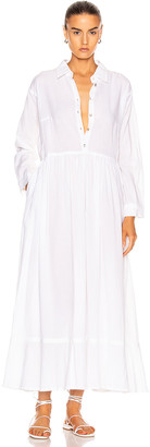 Natalie Martin Heath Dress in Flat Cotton White | FWRD