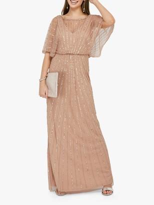 Monsoon Angelina Embellished Maxi Dress, Pink