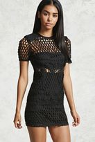 Forever 21 FOREVER 21+ Semi-Sheer Knit Mini Dress