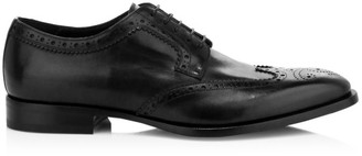 Dunhill Elegant City Leather Wingtip Derby Shoes