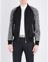 Alexander Mcqueen Leopard Print Bomber Jacket