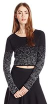 BCBGeneration Women's Cropped Sprinkle Print Sweater