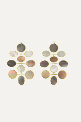 Ippolita Polished Rock Candy 18-karat Gold Shell And Mother-of-pearl Earrings