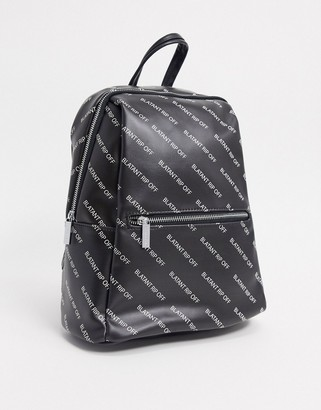 Skinnydip blatent rip off backpack in black