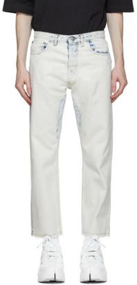 Maison Margiela Off-White Bleach 80s Vintage Jeans
