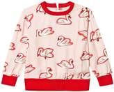 Stella McCartney Pink Irma Swan Print Sweatshirt