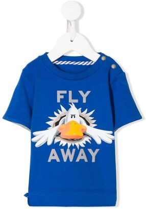 Fly London Lapin House Away graphic print T-shirt