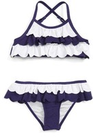 Tucker + Tate Toddler Girl's Scallop Two-Piece Swimsuit