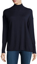 J Brand Clinton Long-Sleeve Combo Sweater, Navy