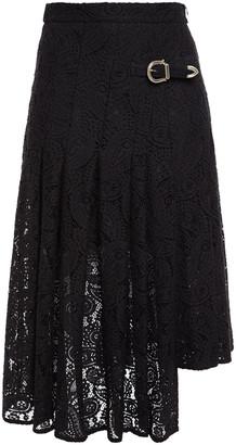 Maje Asymmetric Crocheted Lace Skirt