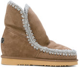 Mou sewed trim boots