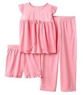 Carter's Girls 4-12 Glitter Mesh Top, Shorts & Pants Dress-Up Pajama Set