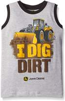 John Deere Little Boys' I Dig Dirt Muscle Tee
