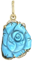 Irene Neuwirth Carved Turquoise Rose Charm