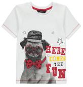 George Pug Slogan T-Shirt