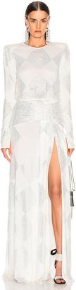 Raisa&Vanessa RAISA&VANESSA Strass Embelished Maxi Dress in White | FWRD