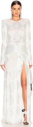 Raisa Vanessa RAISA&VANESSA Strass Embelished Maxi Dress in White | FWRD