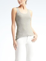 Banana Republic Essential Stretch-to-Fit Stripe Ribbed Tank