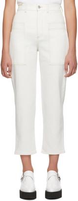 Stella McCartney White Cropped Jeans