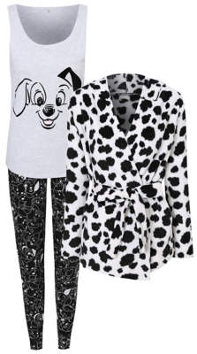 Disney George 101 Dalmatians Pyjamas and Dressing Gown Set