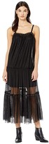 Free People Night Out Mesh Maxi (Black) Women's Clothing