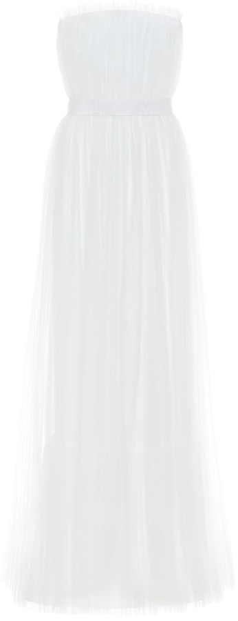 Max Mara Regno strapless tulle bridal gown