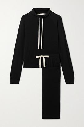 Skin Lenon And Leora Jersey Pajama Set - Black