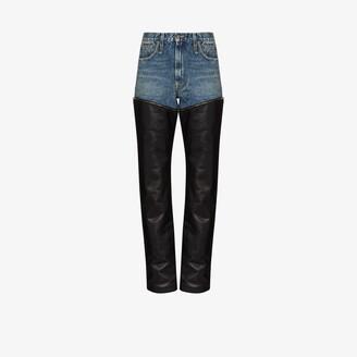 R 13 Axl zip-off straight leg jeans