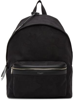Saint Laurent Black Camouflage City Backpack