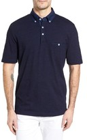 Thomas Dean Men's Classic Fit Overdye Jersey Polo