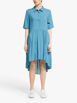 Y.A.S Yasgoer High Low Hem Shirt Dress, Blue Heaven