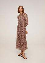 MANGO Floral print long dress black - 4 - Women