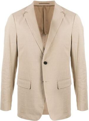 Theory Clinton textured buttoned blazer