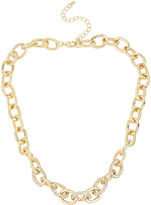 JCPenney Worthington Gold-Tone Crystal Pav Link Necklace