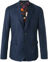 Paul Smith checked blazer - men - Cupro/Wool - 36