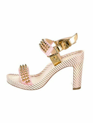 Christian Louboutin Bikool Patent Leather Sandals w/ Tags Pink