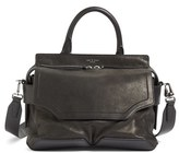 Rag & Bone 'Pilot' Lambskin Leather Satchel - Black