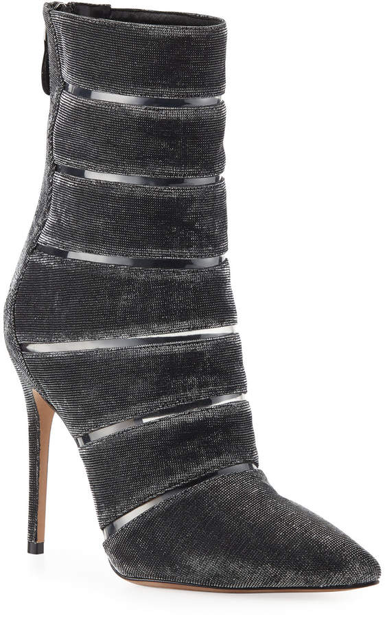 Alexandre Birman Sommer Metallic Booties with PVC
