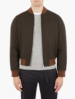 Maison Margiela Brown Wool Bomber Jacket