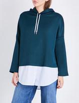 Sandro Layered-hem jersey hoody