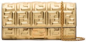 Fendi FF-logo baguette clutch bag
